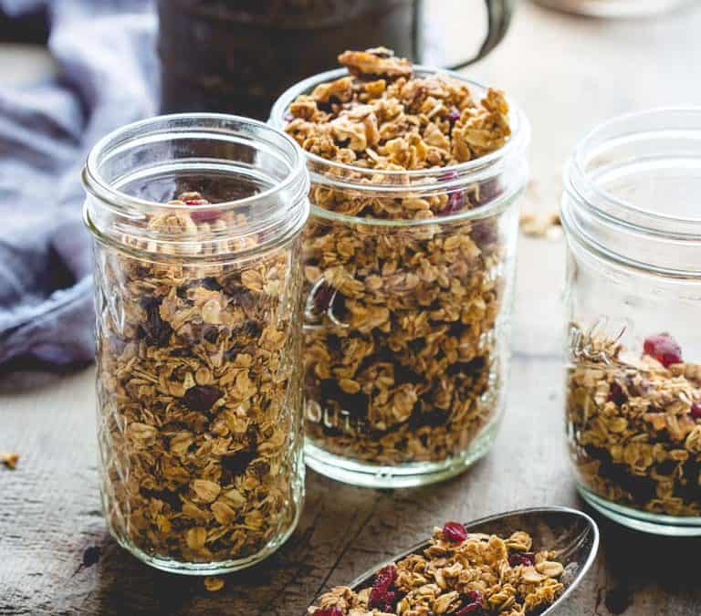 vegan maple granola