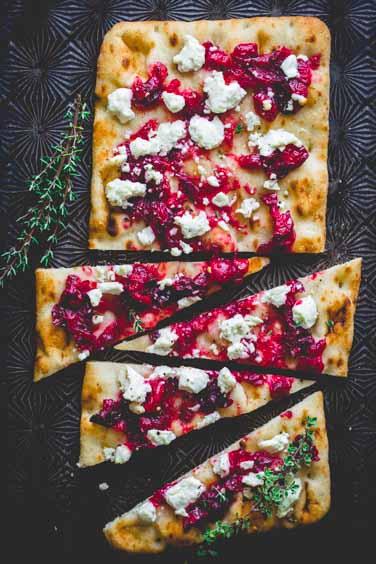 roasted cranberry flatbreads
