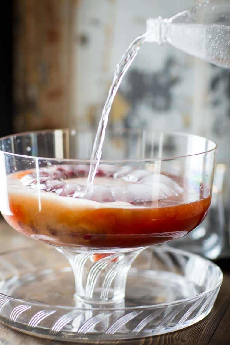 Maple Spiced Rum Punch | Drink | Holiday | Christmas | Rum | Maple Syrup | Seltzer | Apple Juice | Cranberry Juice | Winter | Healthy Seasonal Recipes | Katie Webster