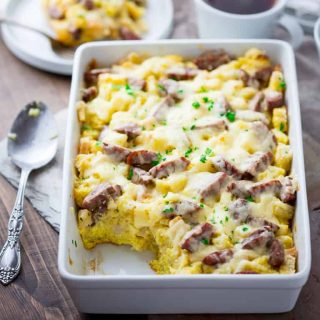 Apple, Cheddar and Sausage Breakfast Strata | Breakfast | Christmas | Casserole | Winter | Make Ahead | Healthy Seasonal Recipes | Katie Webster