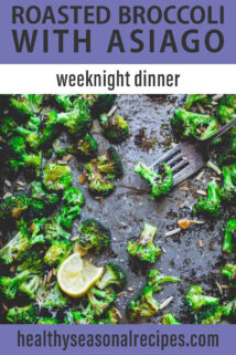 overhead sheet pan roasted broccoli