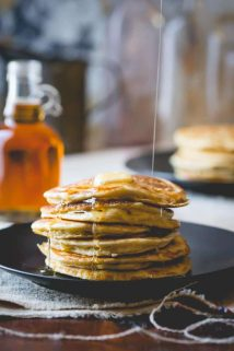 Clean Eating Pancakes | Breakfast | Gluten Free | kid friendly | Winter | Cookbook | Healthy Seasonal Recipes | Katie Webster