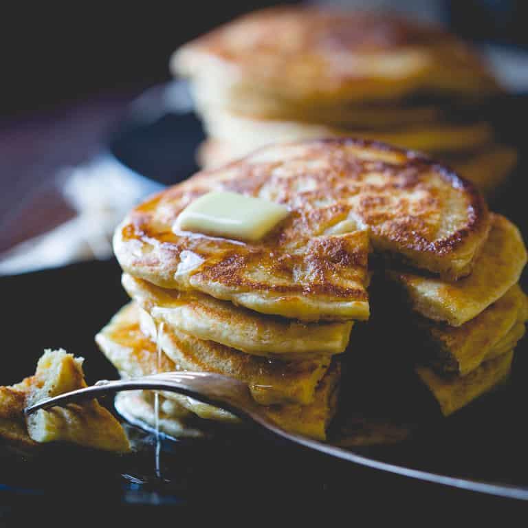 Clean Eating Pancakes | Breakfast | Gluten Free | kid friendly | Winter | Cookbook | Healthy Seasonal Recipes | Katie Webster