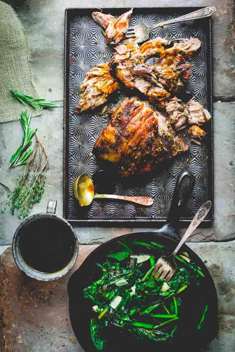 Slow Roasted Pork Shoulder with Fennel, Lemon and Rosemary | Entree | Dinner | Entertaining | Italian | Healthy Seasonal Recipes | Katie Webster