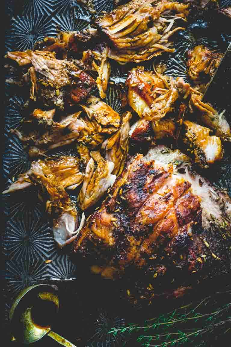 slow roasted pork shoulder with fennel, lemon and rosemary ...