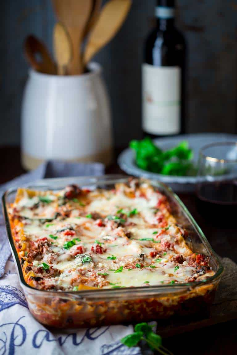Healthy Beef Lasagna With Spinach And Basil Healthy