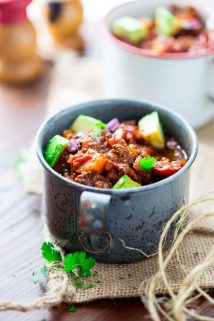 Slow Cooker Paleo Beef Chili | Winter | Paleo | Main Course | Grass Fed Beef | Healthy Seasonal Recipes | Katie Webster