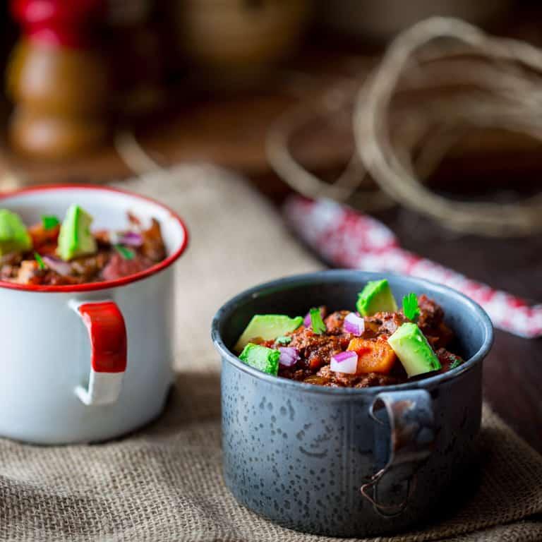 slow cooker paleo beef chili