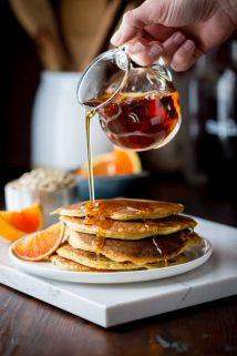 Tangerine Protein Pancakes | Breakfast | Gluten Free | Winter | Kid Friendly | Healthy Seasonal Recipes | Katie Webster