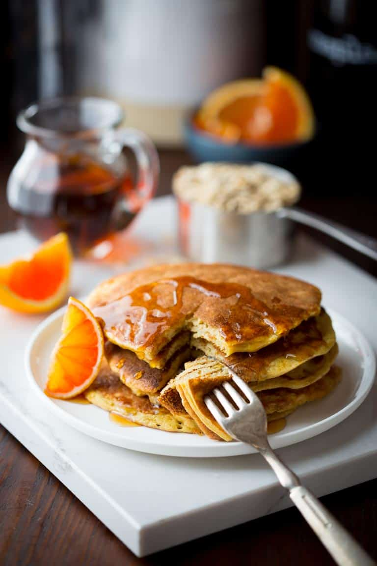 Tangerine Protein Pancakes | Breakfast | Gluten Free | Winter | Kid Friendly | Healthy Seasonal Recipes | Katie Webster