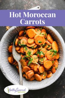 bowl of moroccan carrots