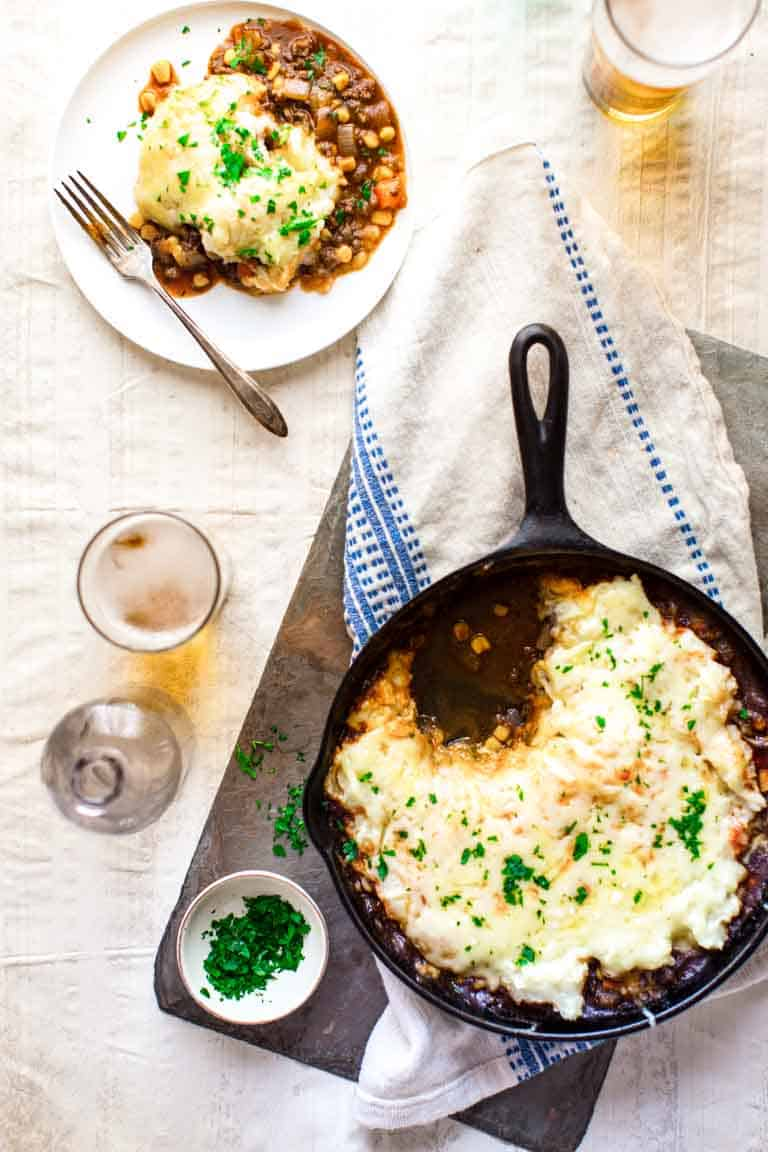 healthy skillet shepherd's pie