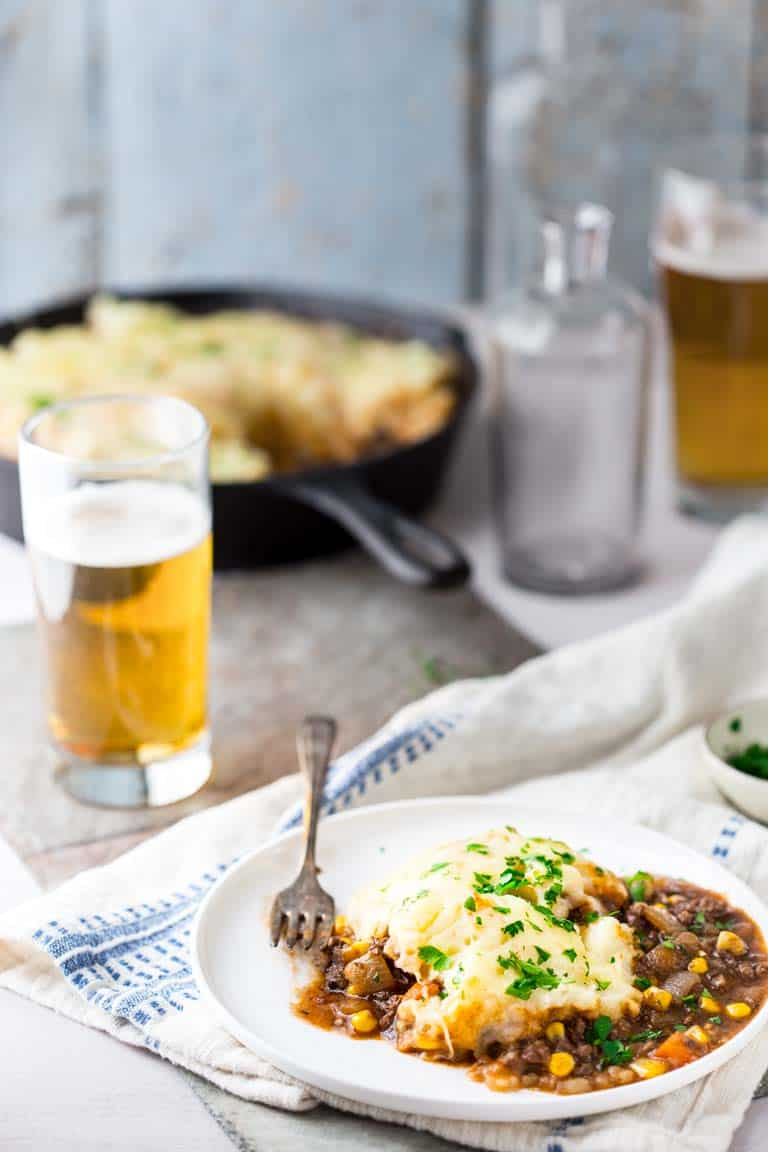 Healthy Skillet Shepherd's Pie | Comfort Food Make Over | Gluten Free | Main Course | Dinner | Winter | Healthy Seasonal Recipes | Katie Webster