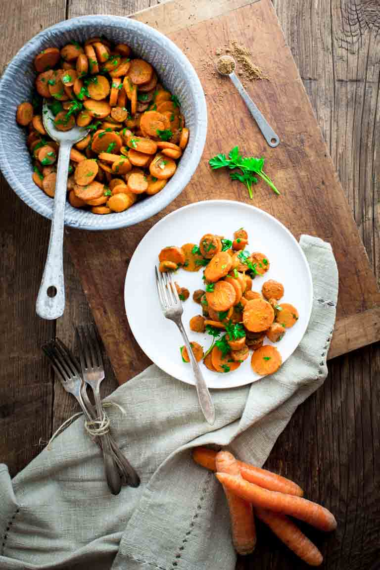 Hot Moroccan Carrots | Side Dish | Vegan | Gluten Free | Dairy Free | Winter | Healthy Seasonal Recipes | Katie Webster