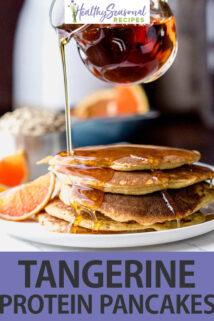 side angle tangerine pancakes