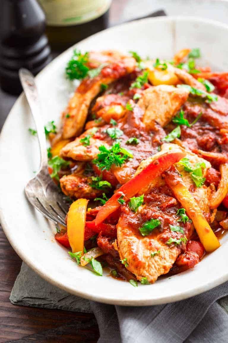20 minute low carb turkey and peppers - Healthy Seasonal Recipes