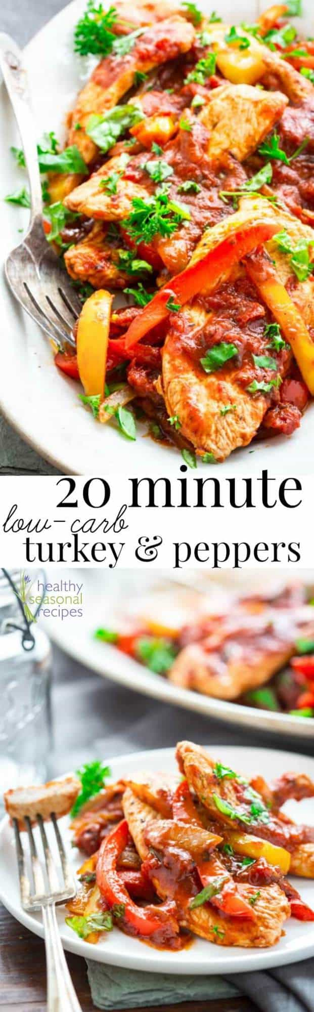 20 minute low carb turkey and peppers healthy seasonal recipes pin30k forumfinder Images