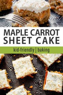 carrot cake sheet pan collage