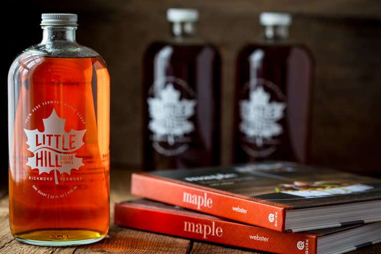 Little Hill Sugarworks Craft-made Small-Batch Pure Vermont Maple Syrup.