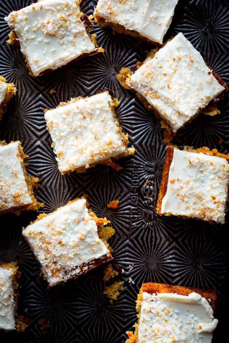 slices of carrot cake