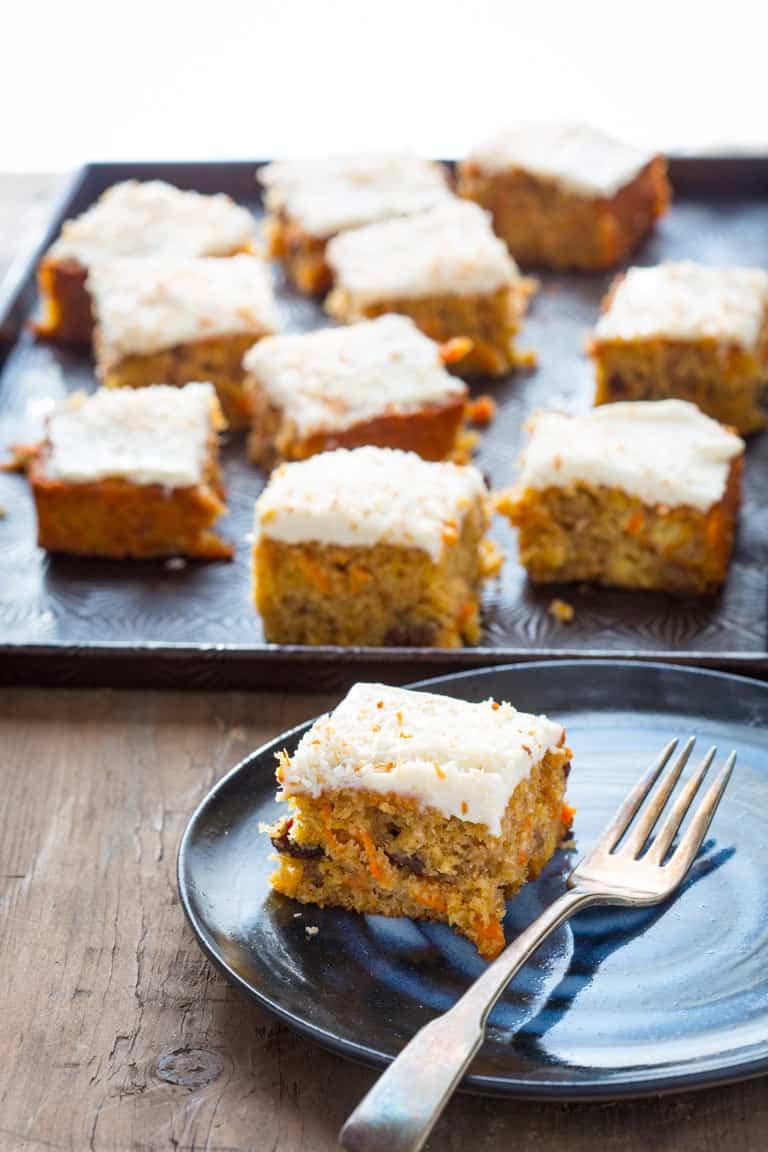Healthy Maple Carrot Sheet Cake   Dessert   Baking   Easter   Spring   Healthy Seasonal Recipes   Katie Webster