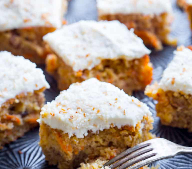 maple carrot sheet cake