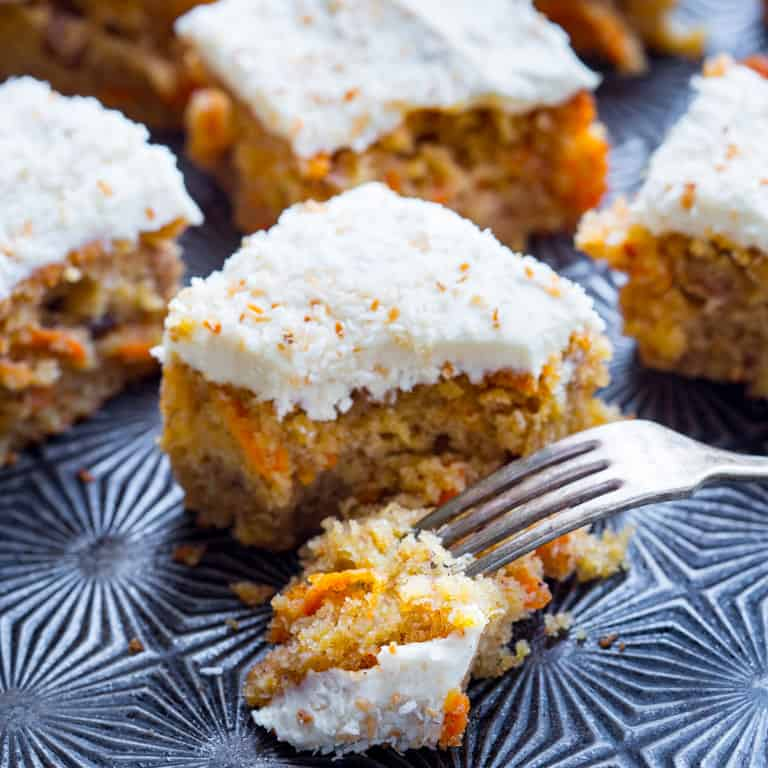 Healthy Carrot Cake With Walnuts