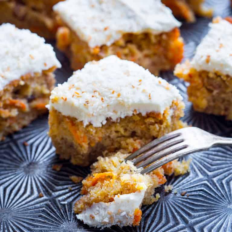 maple carrot sheet cake