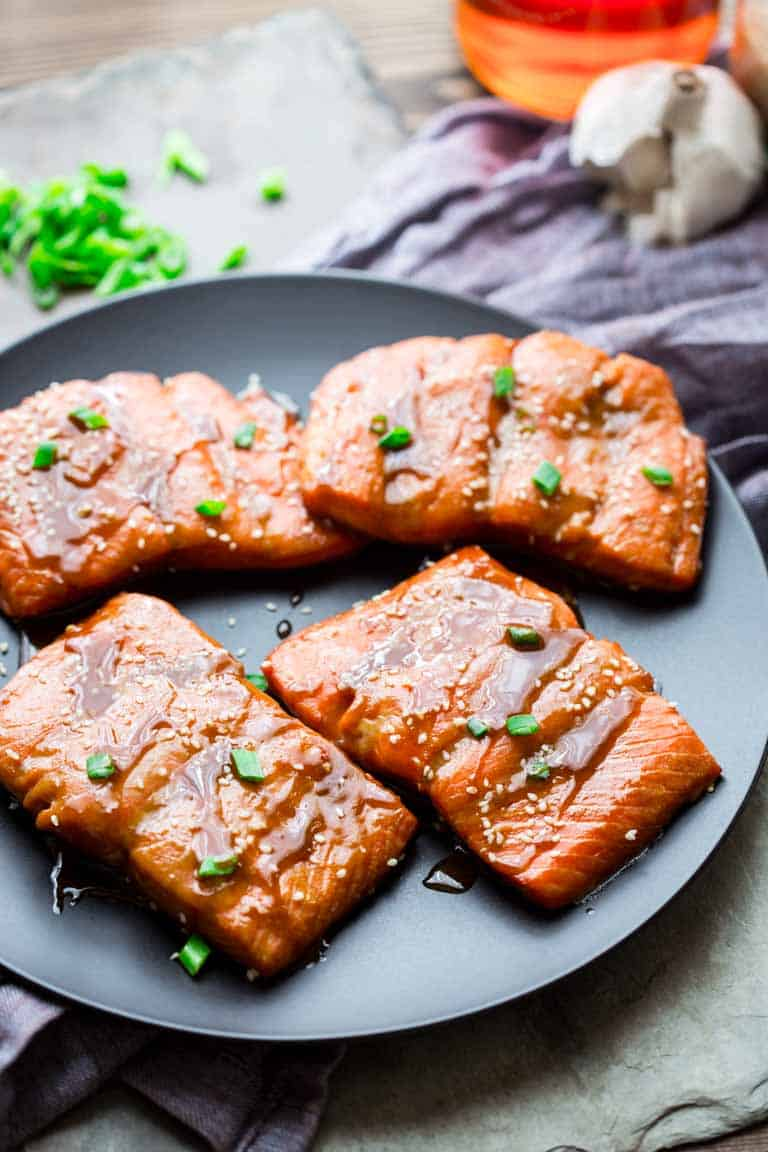 maple tahini roasted salmon