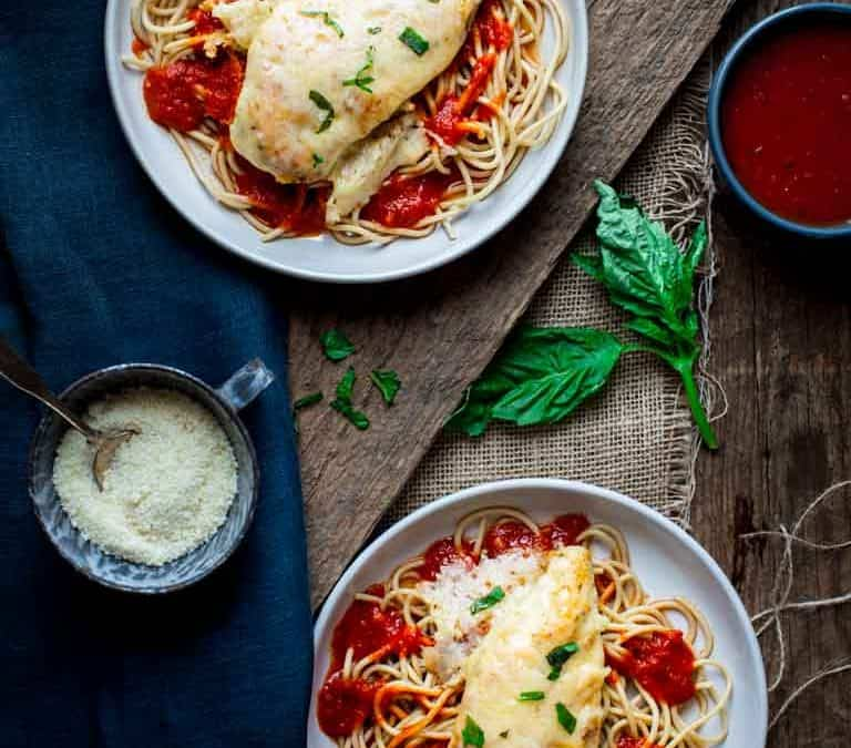 30-minute healthy chicken parmesan