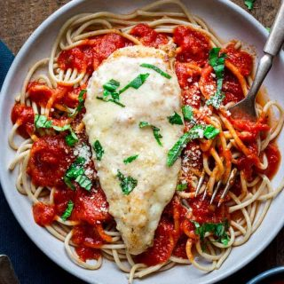 This Healthy 30 Minute Chicken Parmesan is ready in 30 minutes making it a perfect weeknight dinner. It's a healthier version of the traditional recipe. Healthy Seasonal Recipes   Katie Webster
