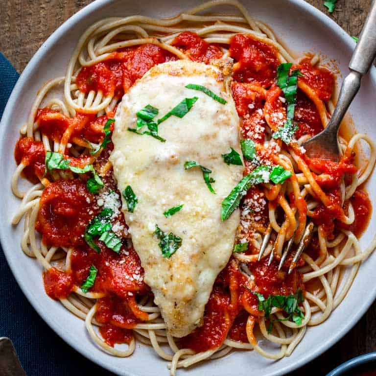 healthy 30 minute chicken parmesan