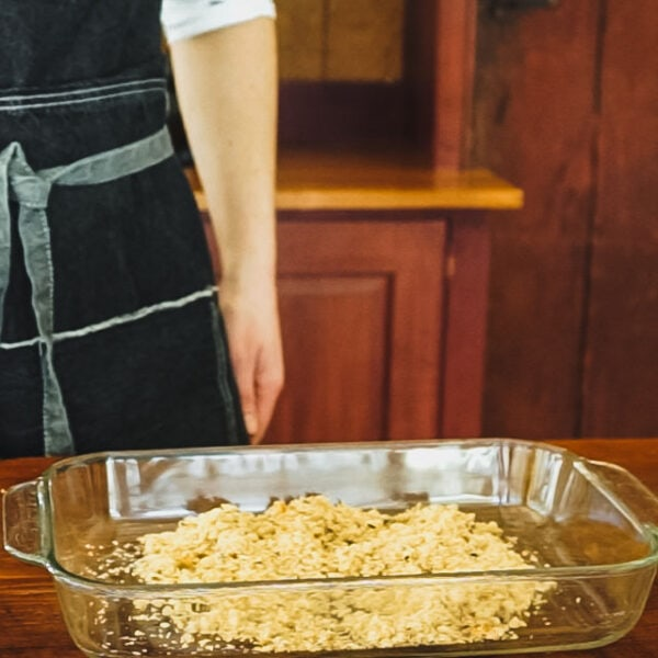 Spread the remaining breadcrumbs out into a shallow dish.