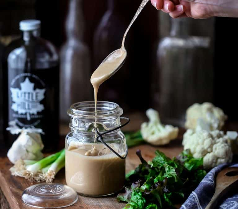 maple tahini salad dressing