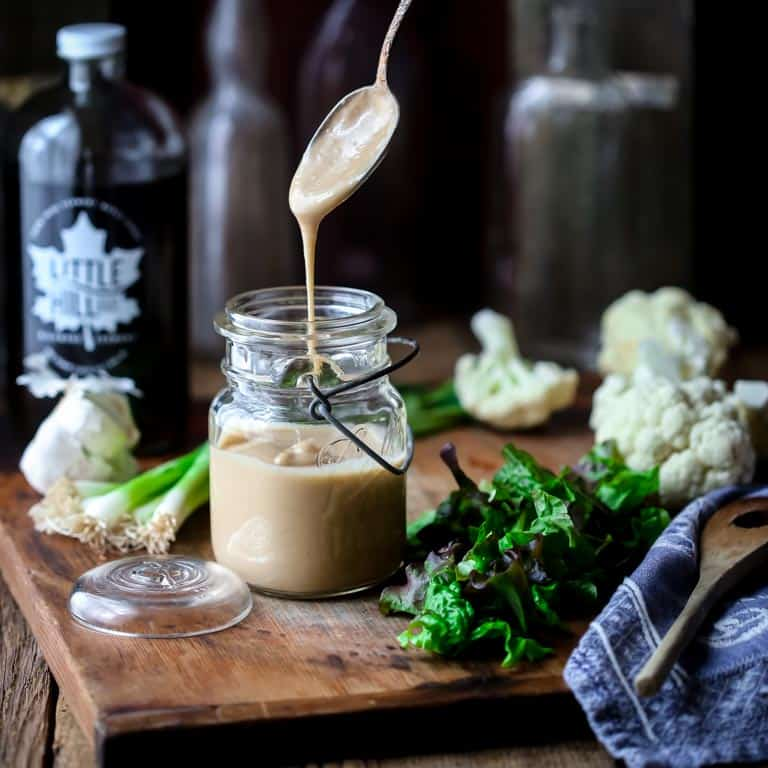 maple tahini salad dressing