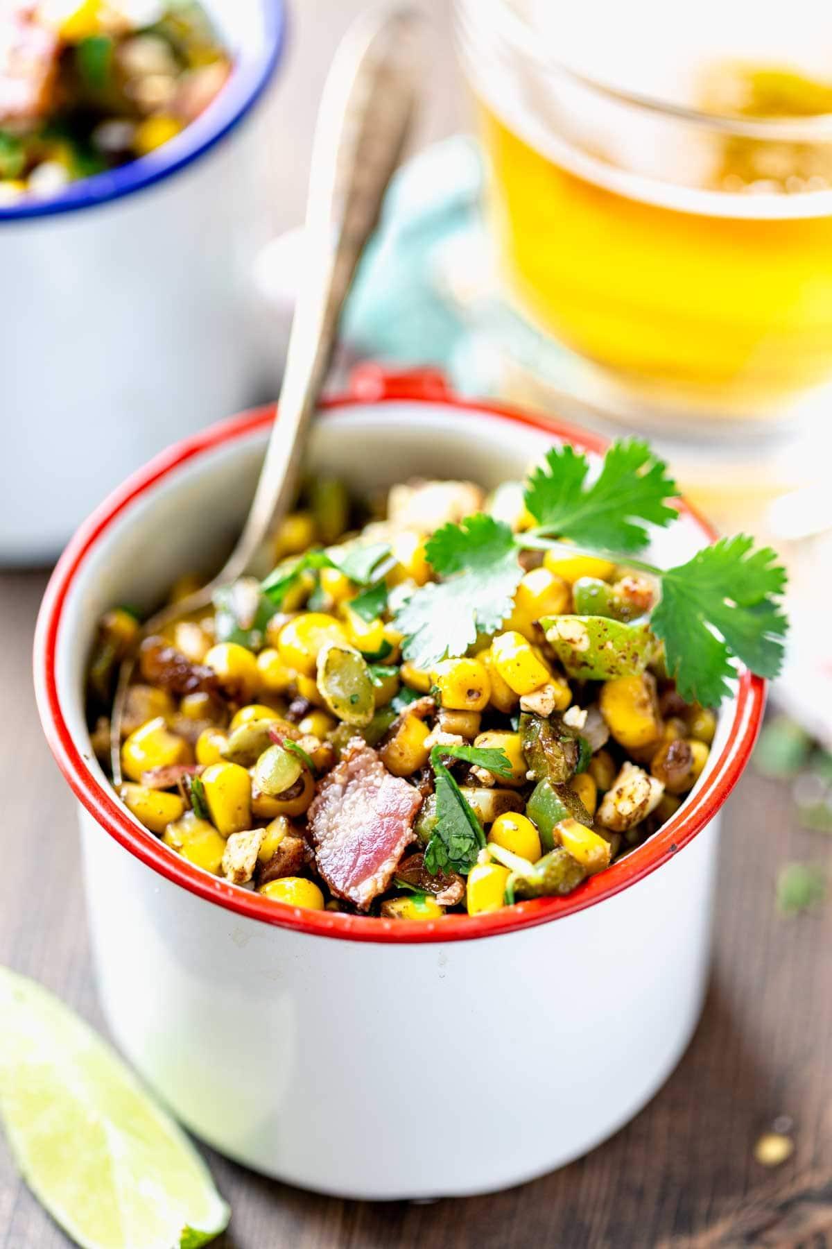 cup of street corn saute