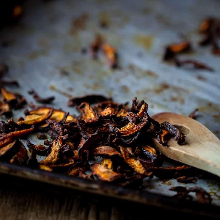 vegan shiitake bacon