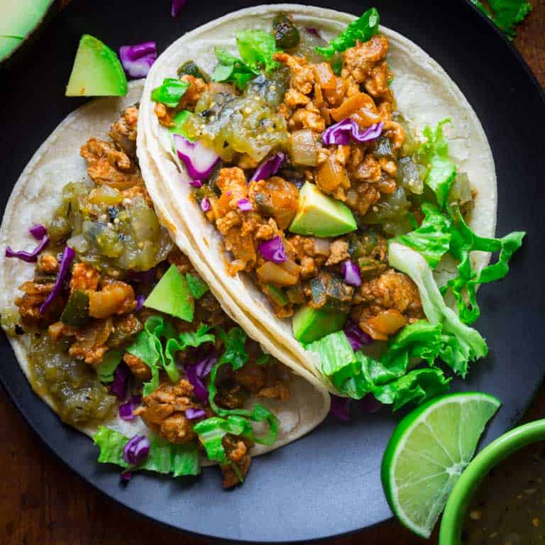20 Minute Ground Chicken Tacos With Poblanos Healthy Seasonal Recipes