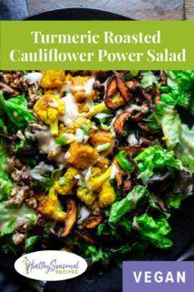 up close vegan tempeh power salad