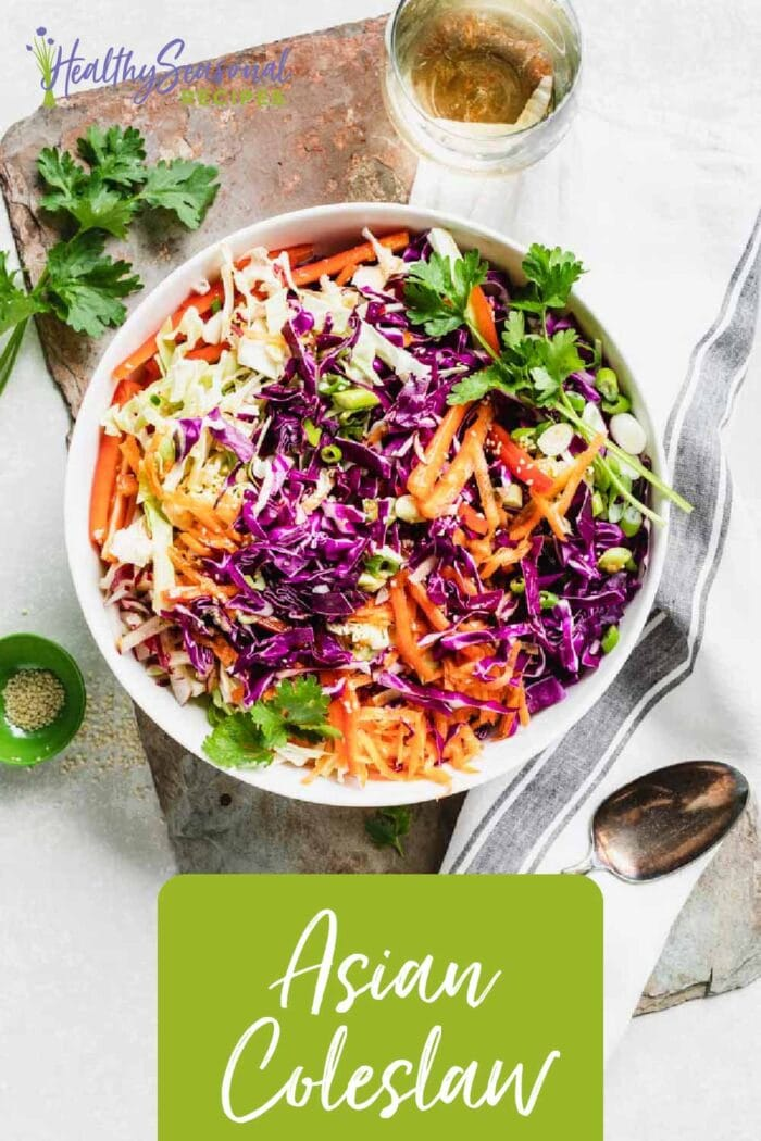 Asian Coleslaw from overhead