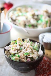Healthy Greek Yogurt Pasta Salad with Ham and Peas | Healthy Seasonal Recipes