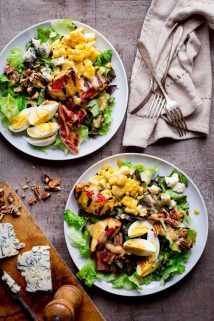 Grilled Corn and Peach Cobb Salad | Healthy Seasonal Recipes