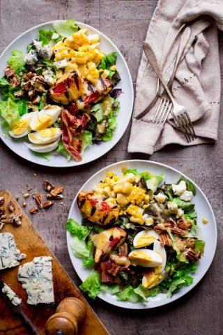 Grilled Corn and Peach Cobb Salad   Healthy Seasonal Recipes