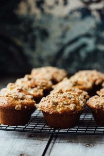These Greek Yogurt Apple Streusel Muffins are a nutritious back-to-school snack. | Healthy Seasonal Recipes | Katie Webster