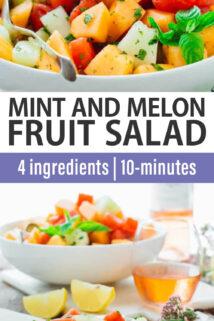 Mint and Melon Salad text overlay