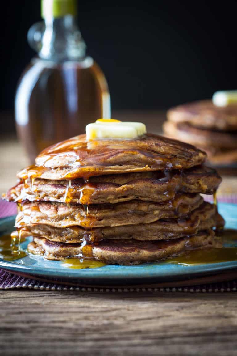 Apple Gingerbread Pancakes