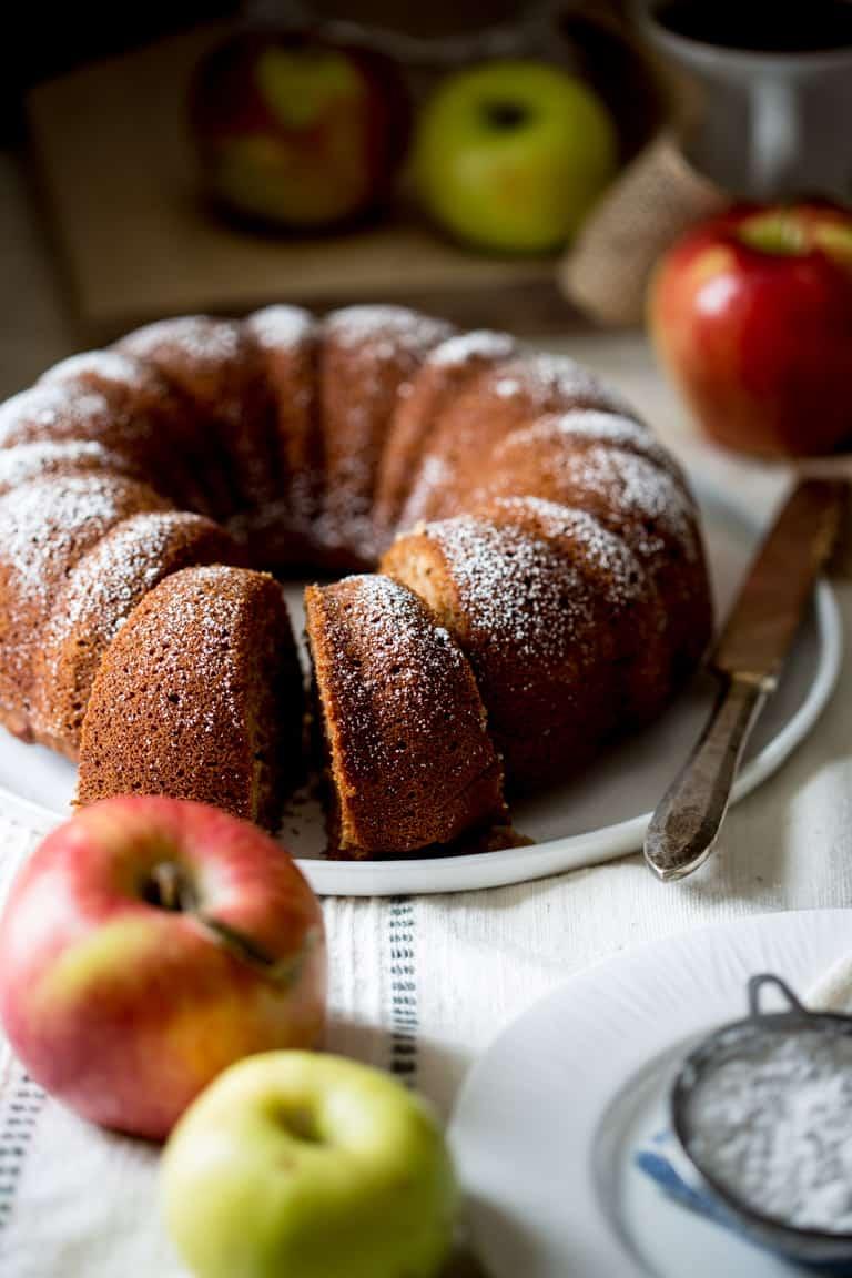 Gluten Free Applesauce Bundt Snack Cake