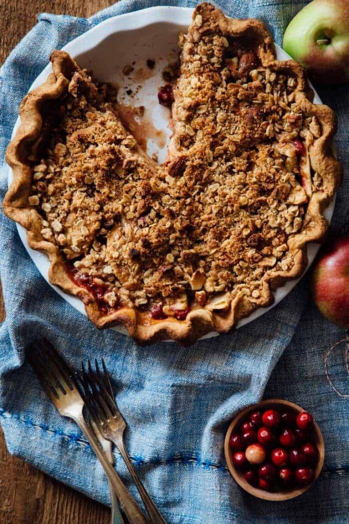 Cranberry Apple Maple Pie