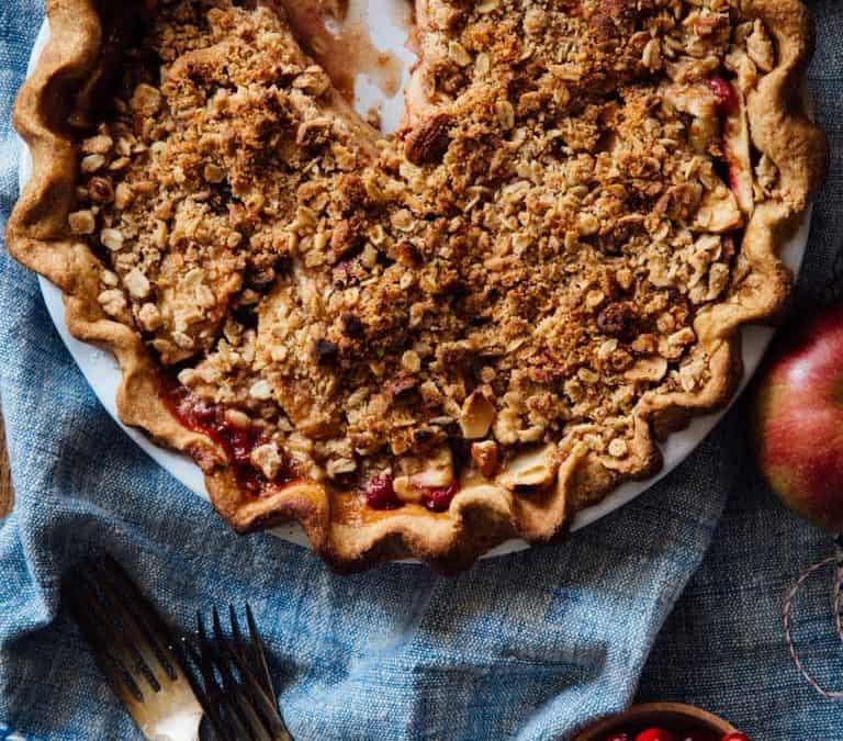 maple cranberry apple pie
