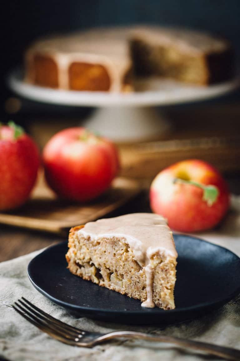 Maple Almond Apple Cake
